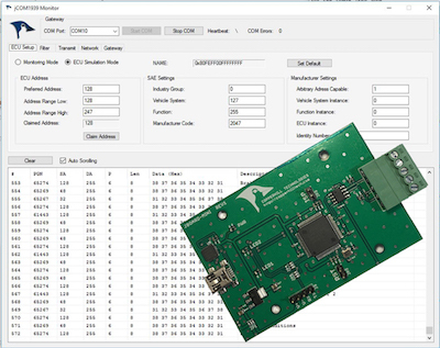 SAE J1939 ECU Simulator for PCs And Embedded Solutions
