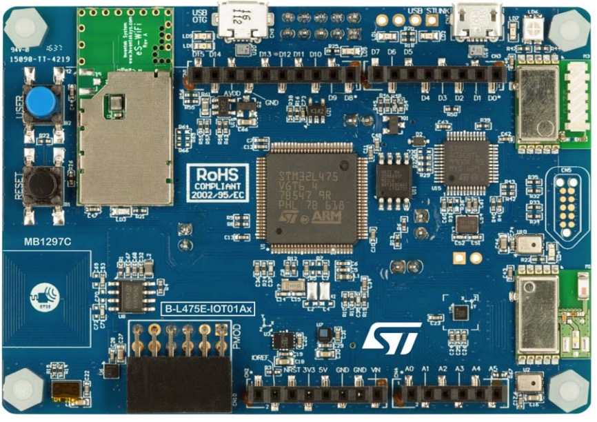STMicroelectronics Discovery kit for IoT node - multi-channel communication with STM32L4
