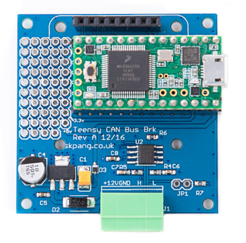 Teensy CAN-Bus Breakout Board Includes Teensy 3.2