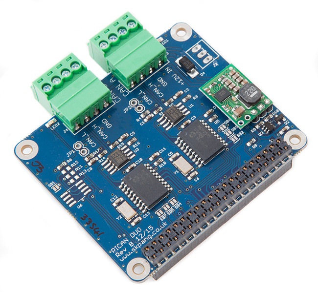 pican2 duo can bus board for raspberry pi 2 with smps. Black Bedroom Furniture Sets. Home Design Ideas