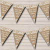 Stunning Burlap & Lace Personalised Wedding Bunting