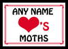 Love Heart Moths Personalised Placemat