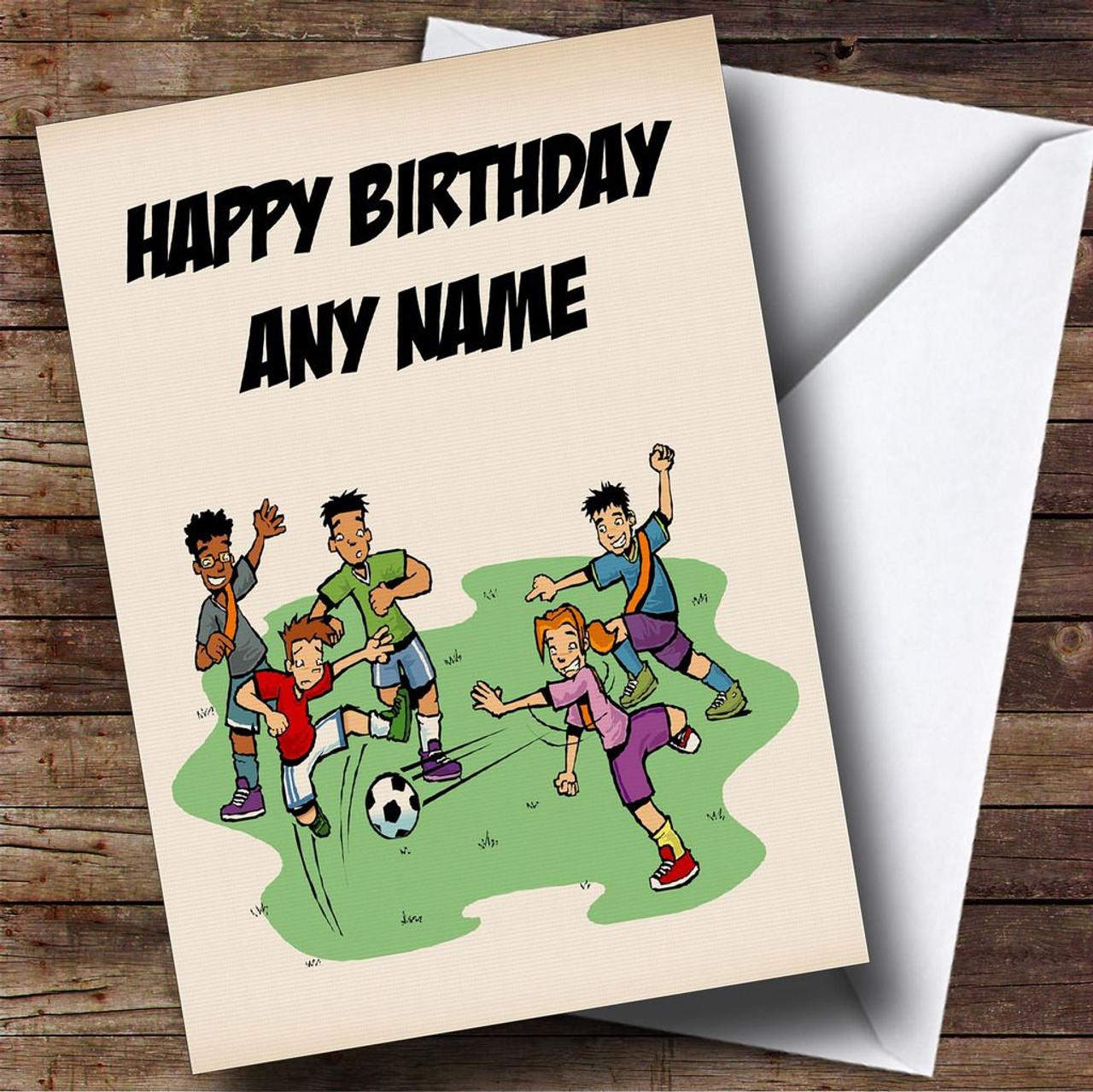 Kids Football Personalised Birthday Card The Card Zoo – Personalised Birthday Cards for Kids