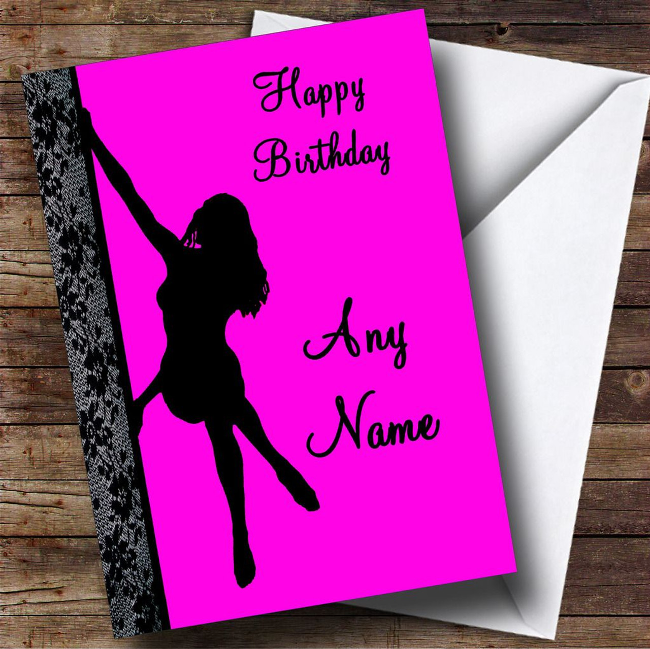 Pink Sexy Pole Dancing Personalised Birthday Card The Card Zoo – Customised Birthday Cards