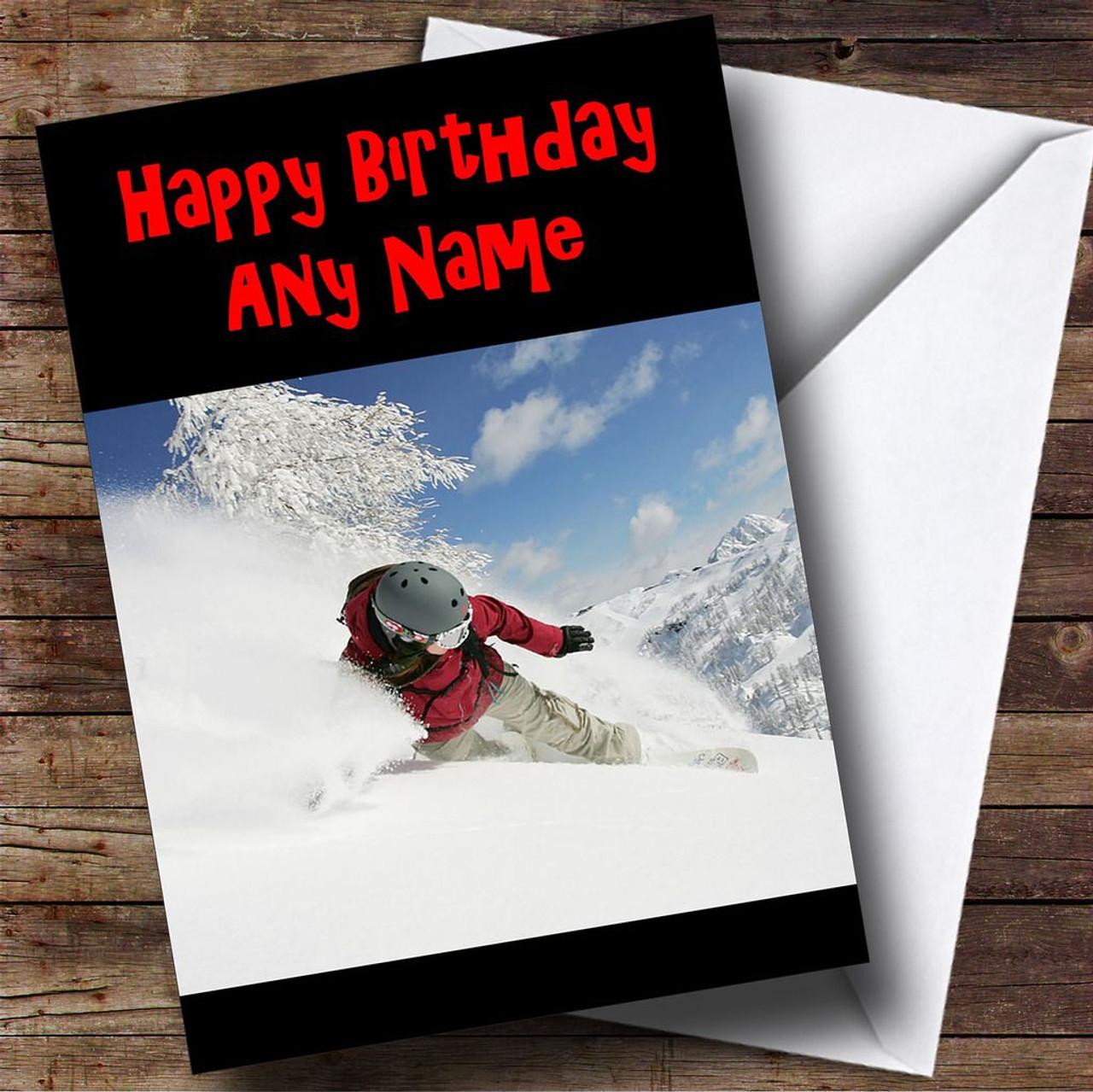 Snowboarding Personalised Birthday Card The Card Zoo – Numberjacks Birthday Card