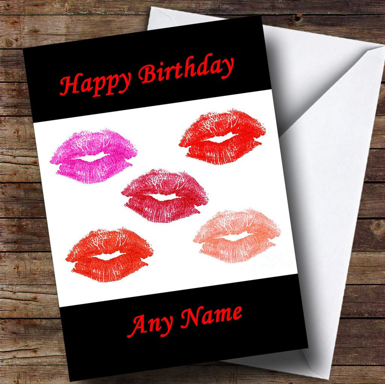 Lots Of Lipstick Kisses Personalised Birthday Card The Card Zoo – Cheryl Cole Birthday Card