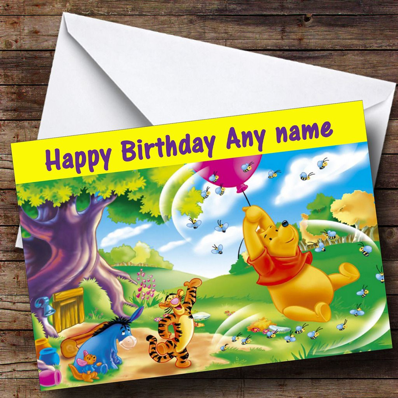 Winnie The Pooh Personalised Birthday Card The Card Zoo – Pooh Birthday Cards