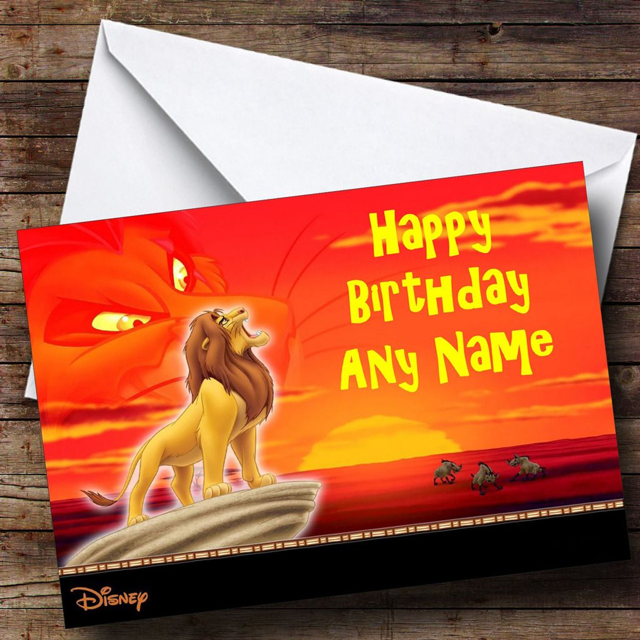 The Lion King Personalised Birthday Card The Card Zoo – Lion King Birthday Card