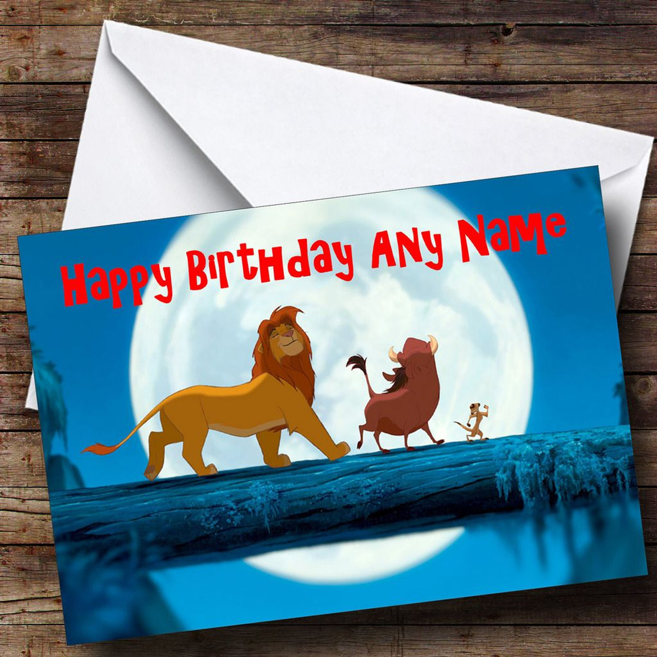 The Lion King Blue Personalised Birthday Card The Card Zoo – Lion King Birthday Card