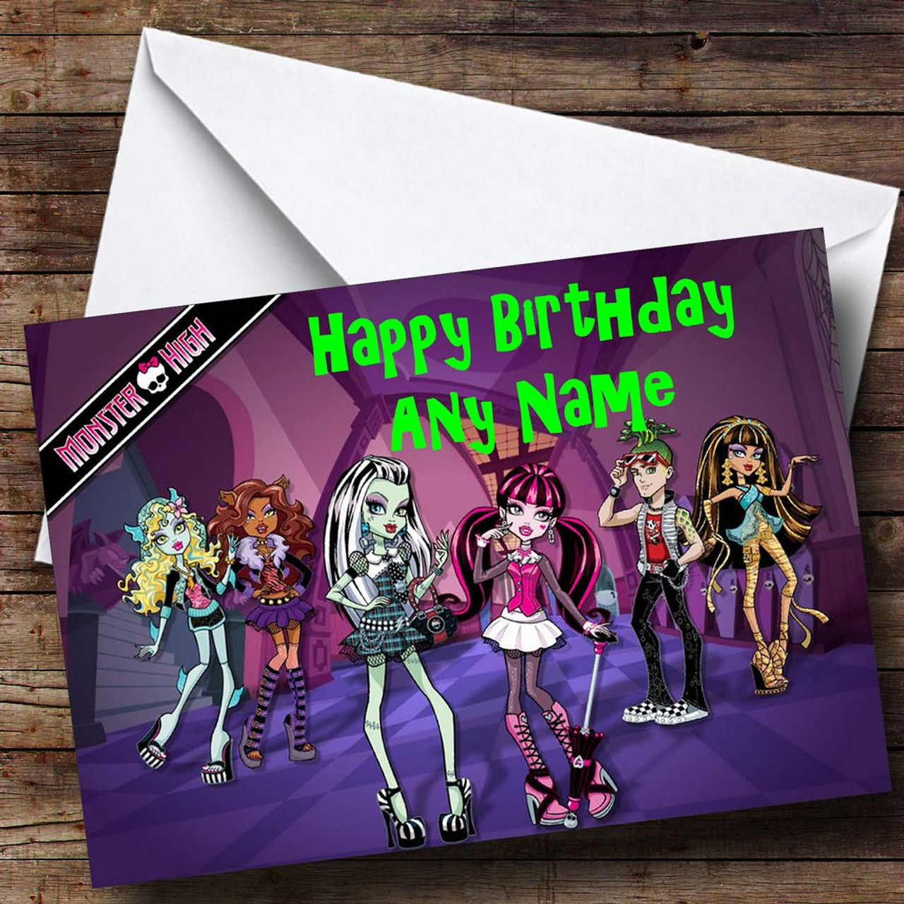 Monster High Dolls Personalised Birthday Card The Card Zoo – Monster High Birthday Card
