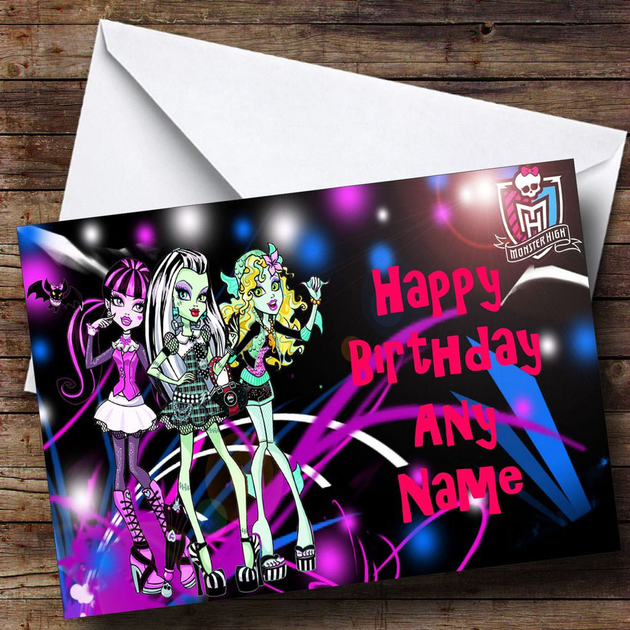Monster High Personalised Birthday Card The Card Zoo – Monster High Birthday Card