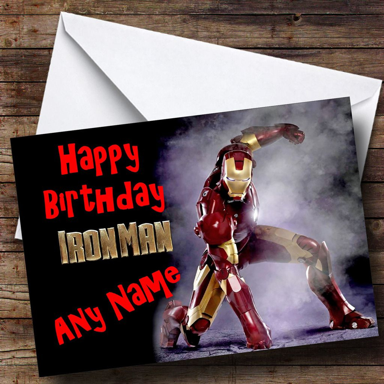 Iron Man Personalised Birthday Card The Card Zoo – Iron Man Birthday Card