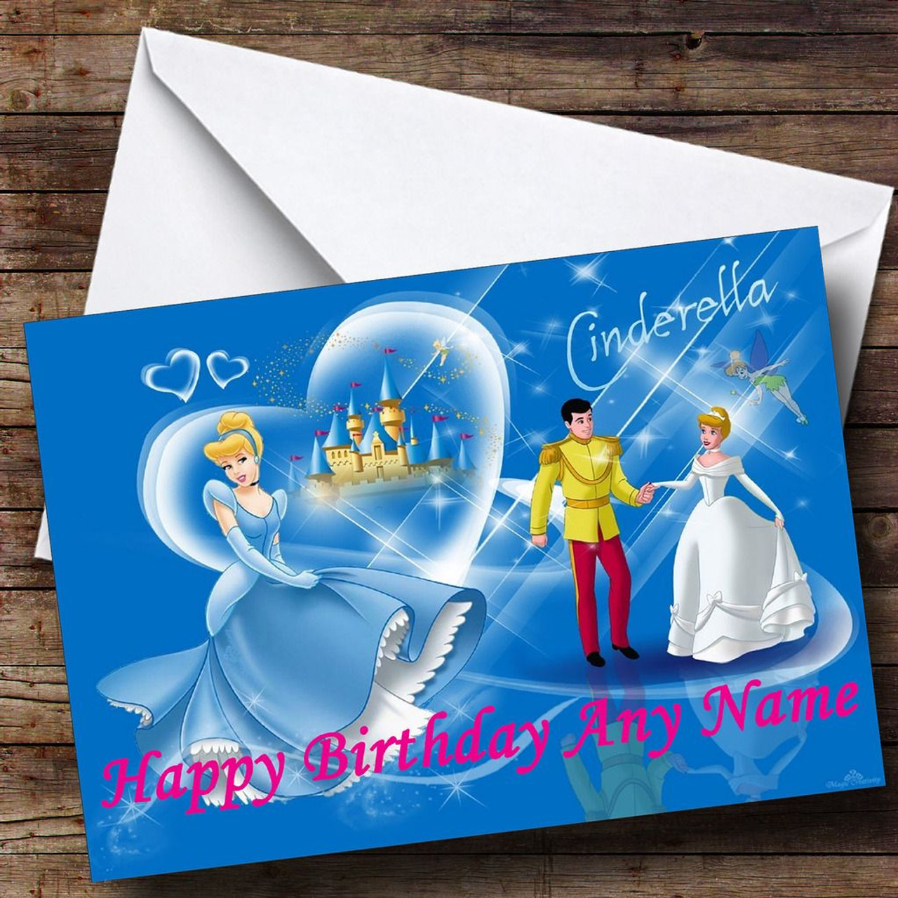 Blue Cinderella Personalised Birthday Card The Card Zoo – Cinderella Birthday Card