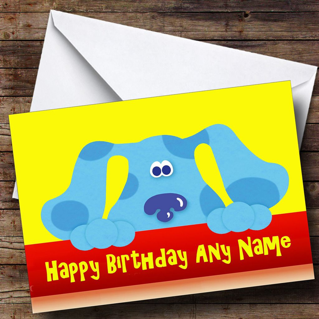 Blues Clues Personalised Birthday Card The Card Zoo – Blues Clues Birthday Card