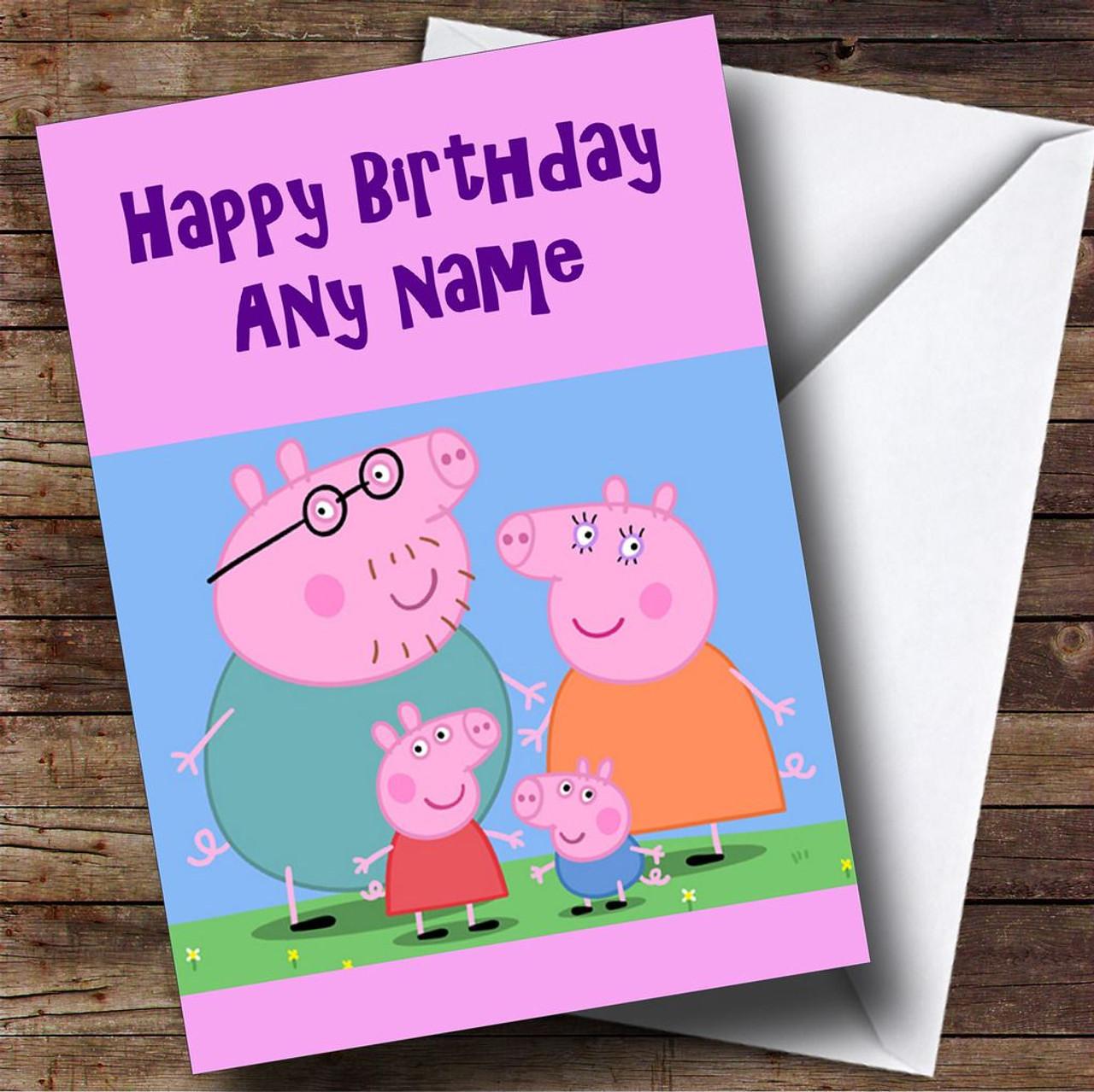Pink Peppa Pig Personalised Birthday Card The Card Zoo – Personalised Birthday Card