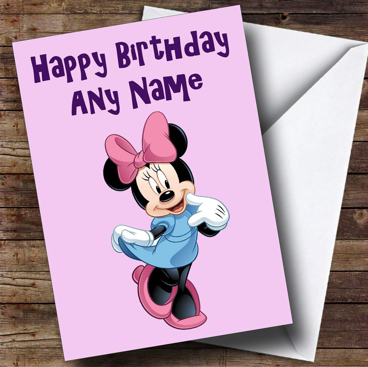 Minnie Mouse Pink Personalised Birthday Card The Card Zoo – Birthday Cards Personalised