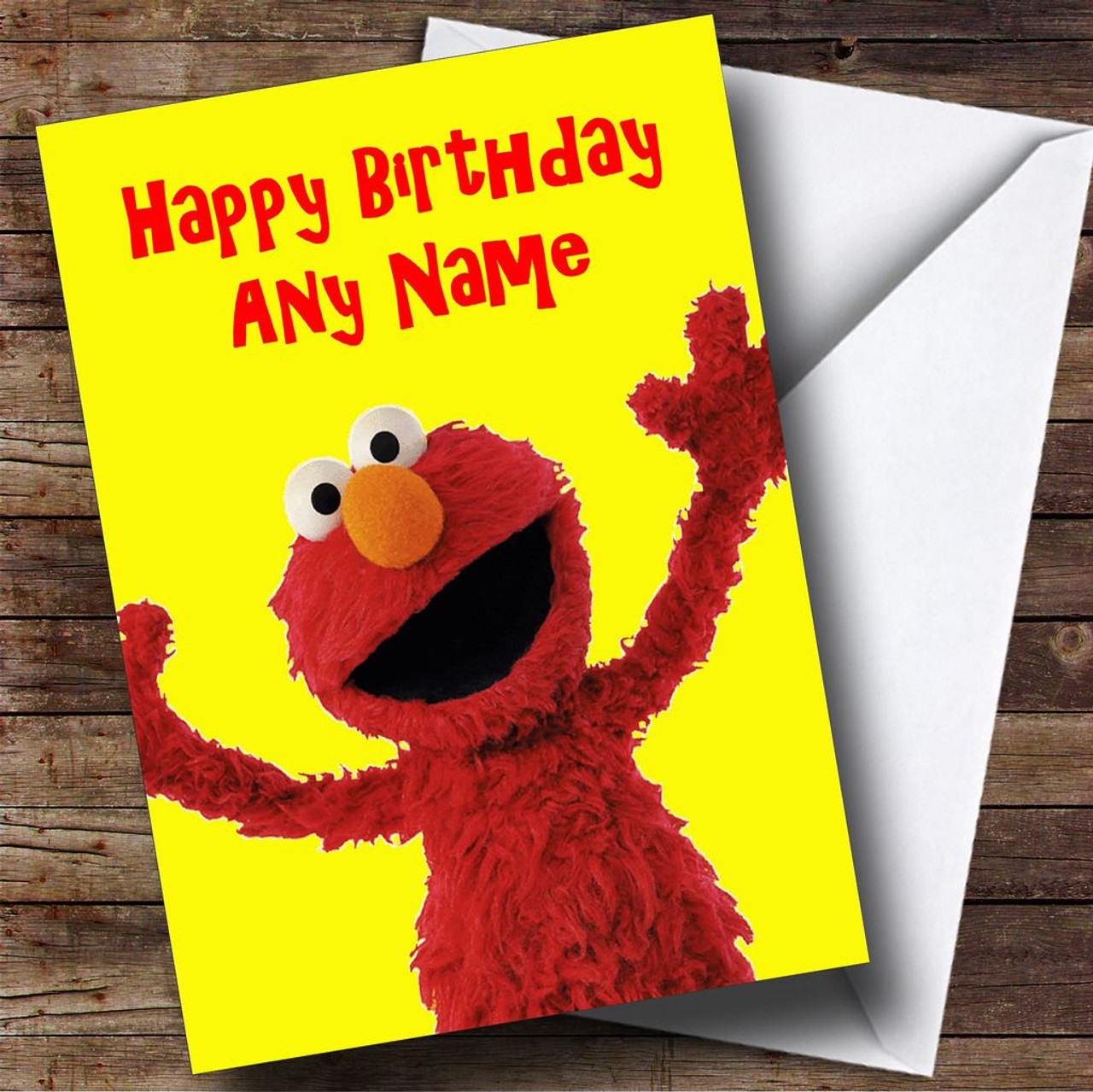 Elmo Personalised Birthday Card The Card Zoo – Elmo Birthday Card