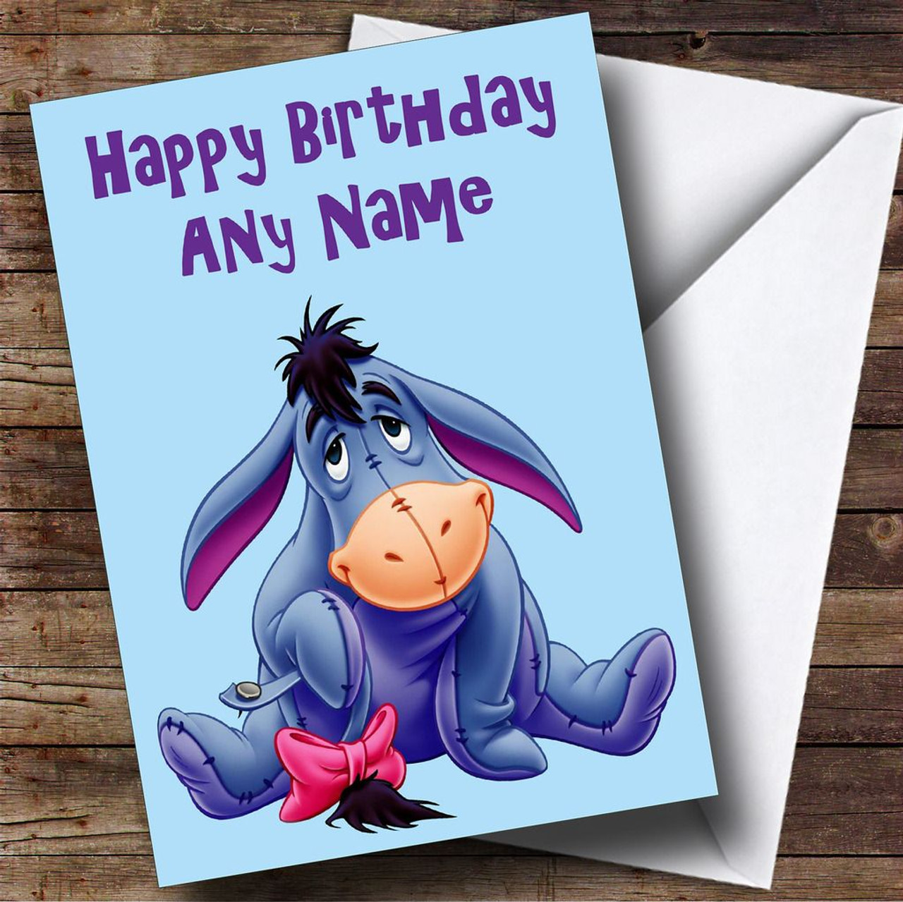 Eeyore Personalised Birthday Card The Card Zoo – Eeyore Birthday Cards