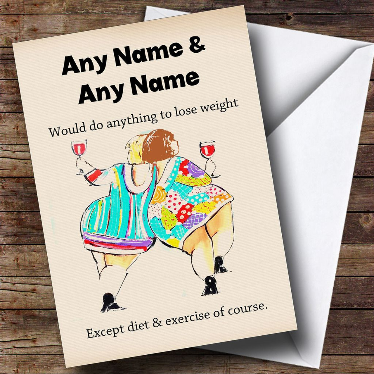 Funny Joke Fat Friends Personalised Birthday Card The Card Zoo – Birthday Card Jokes for Friends
