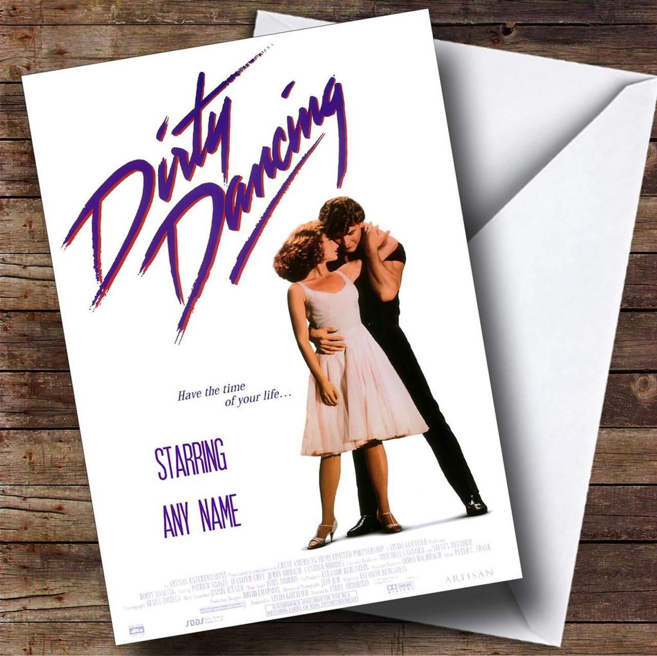 Spoof Dirty Dancing Movie Film Poster Personalised
