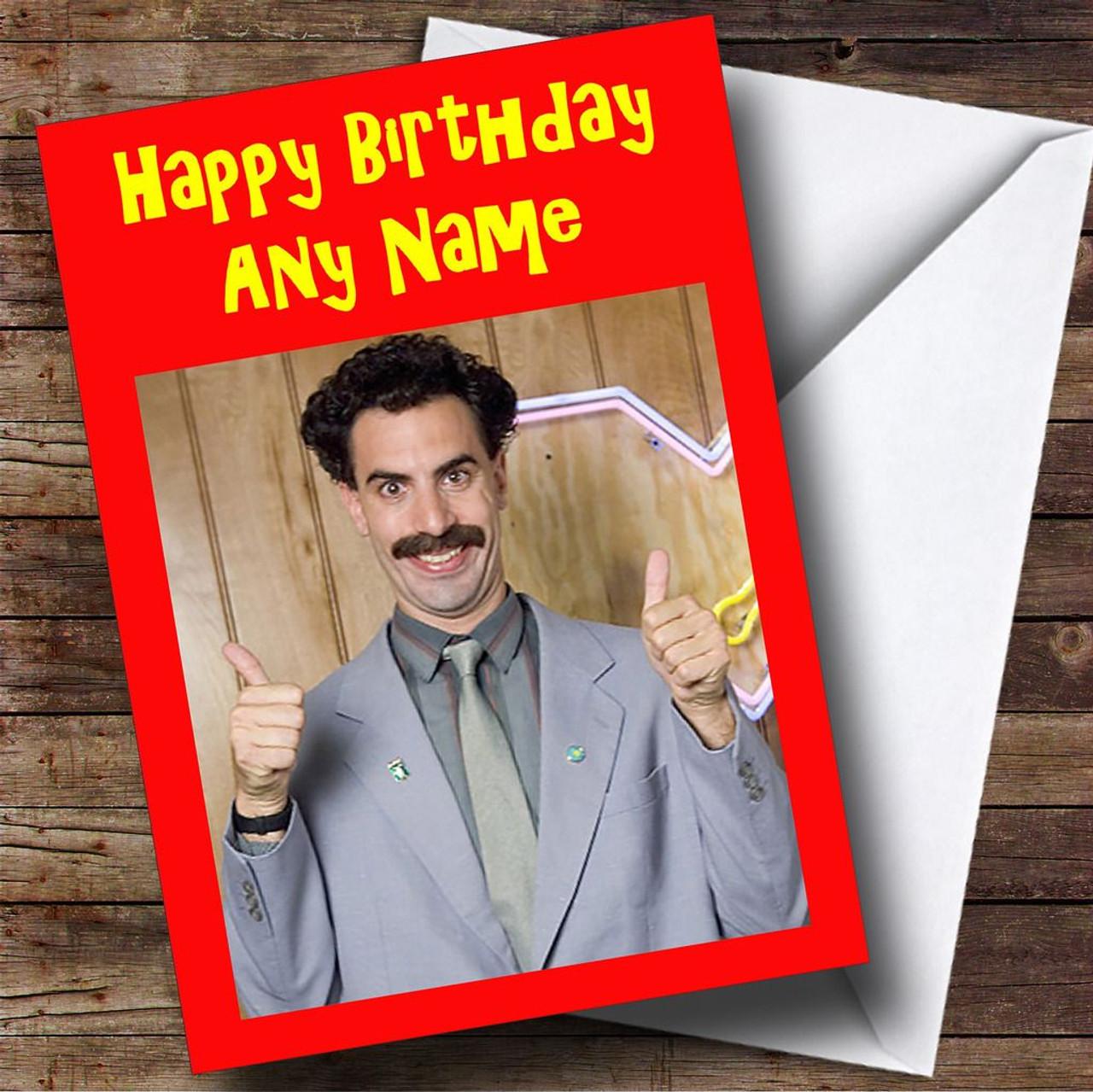 Borat Personalised Birthday Card The Card Zoo – Borat Birthday Card