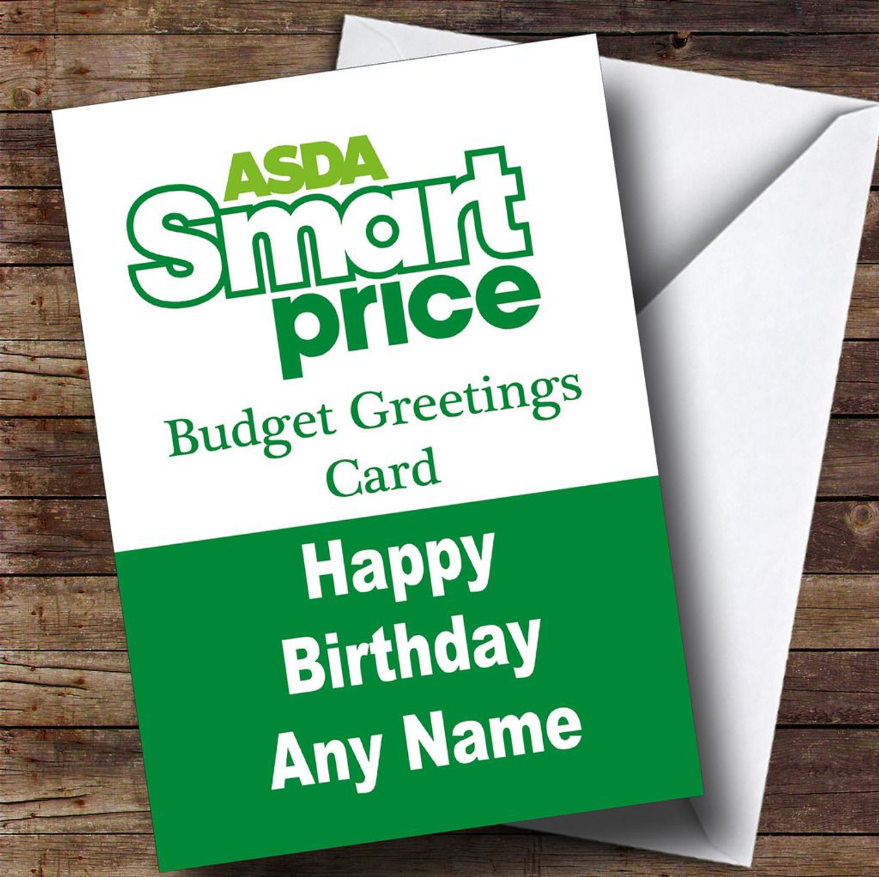 Funny joke asda smart price spoof personalised birthday for Smart price