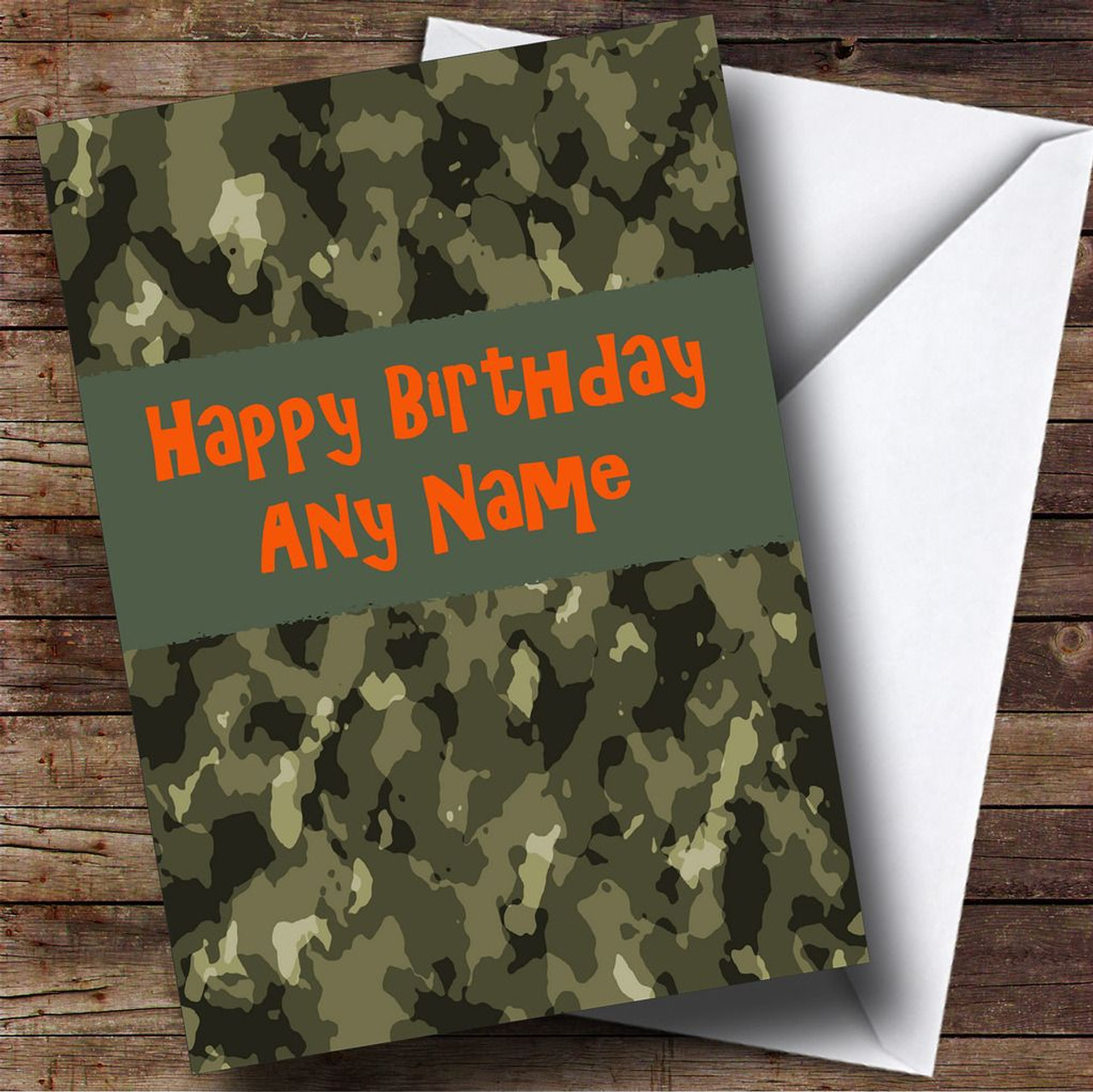 Camouflage Army Personalised Birthday Card The Card Zoo – Army Birthday Cards