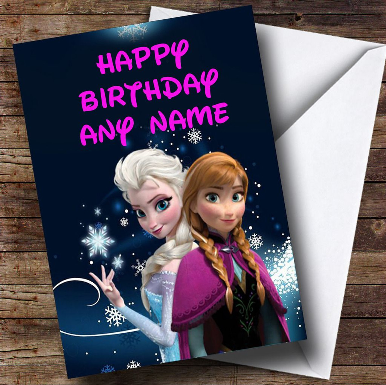 Anna And Elsa Frozen Princess Personalised Birthday Card FR1 – Personalised Birthday Card