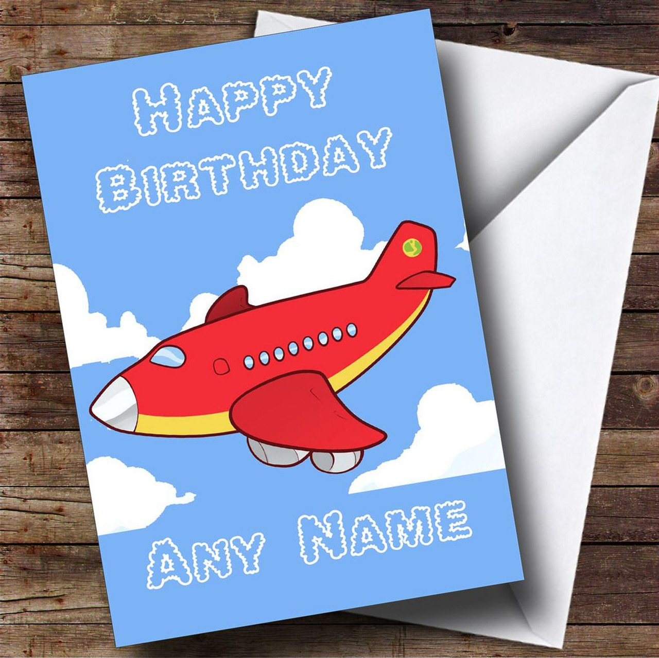 Kids Plane Personalised Birthday Card The Card Zoo – Personalised Birthday Cards for Kids