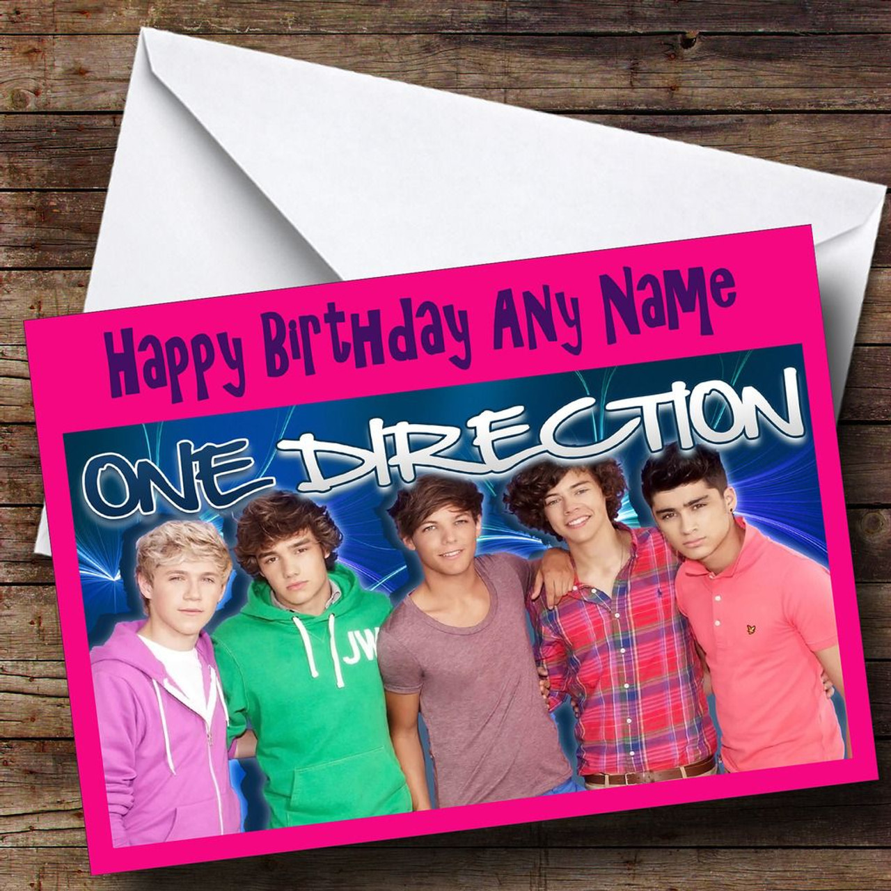 One Direction Personalised Birthday Card The Card Zoo – One Direction Personalised Birthday Card