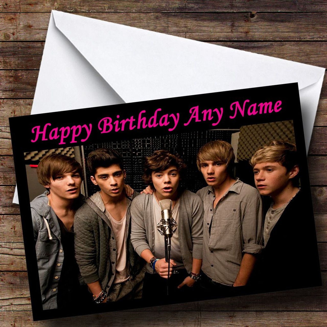 One Direction Boys Personalised Birthday Card The Card Zoo – One Direction Personalised Birthday Card