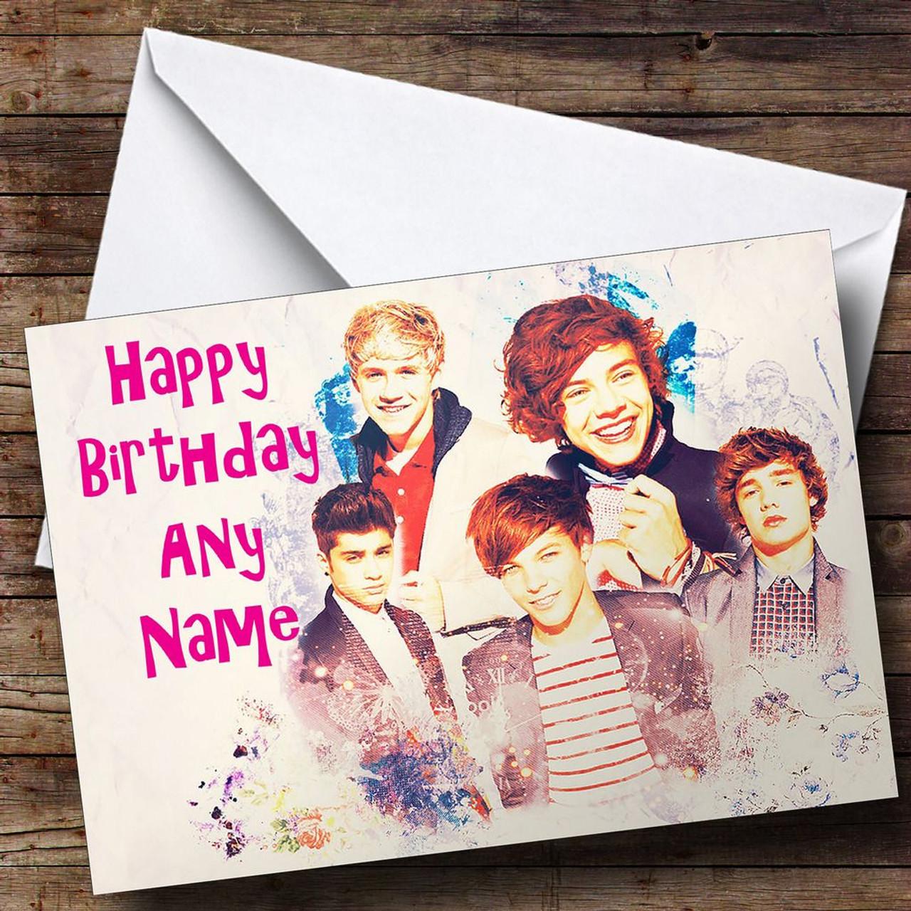 One Direction Dream Personalised Birthday Card The Card Zoo – Zayn Malik Birthday Card