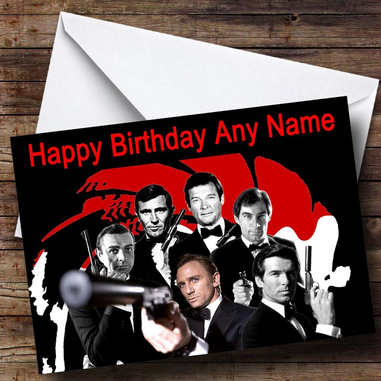 James Bond Various Personalised Birthday Card The Card Zoo – James Bond Birthday Cards
