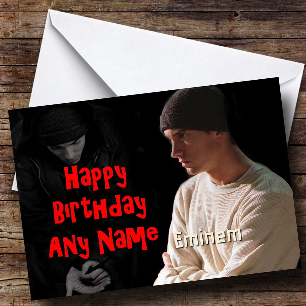 Eminem Personalised Birthday Card The Card Zoo – Eminem Birthday Card