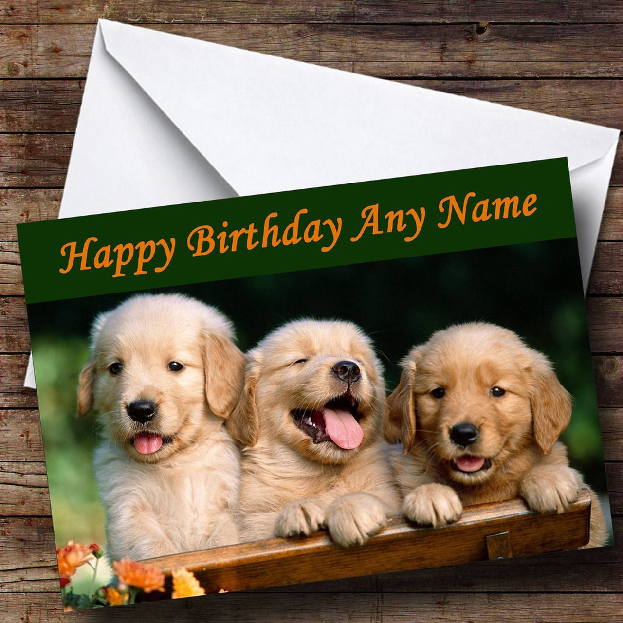 Labrador Puppy Dogs Personalised Birthday Card The Card Zoo – Labrador Birthday Cards