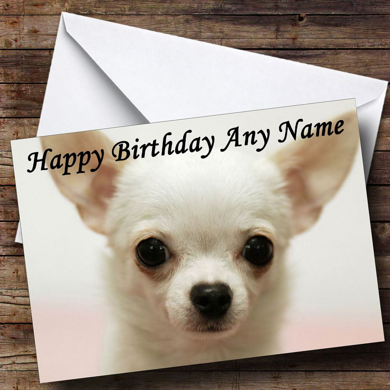 Chihuahua Dog Personalised Birthday Card The Card Zoo – Chihuahua Birthday Cards