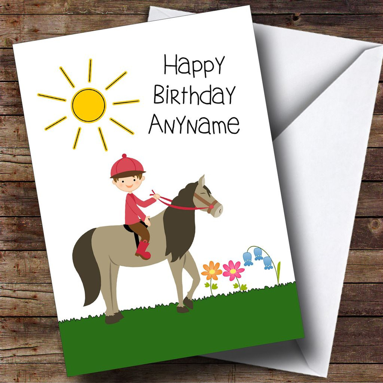 Shetland Pony Personalised Birthday Card The Card Zoo – Numberjacks Birthday Card