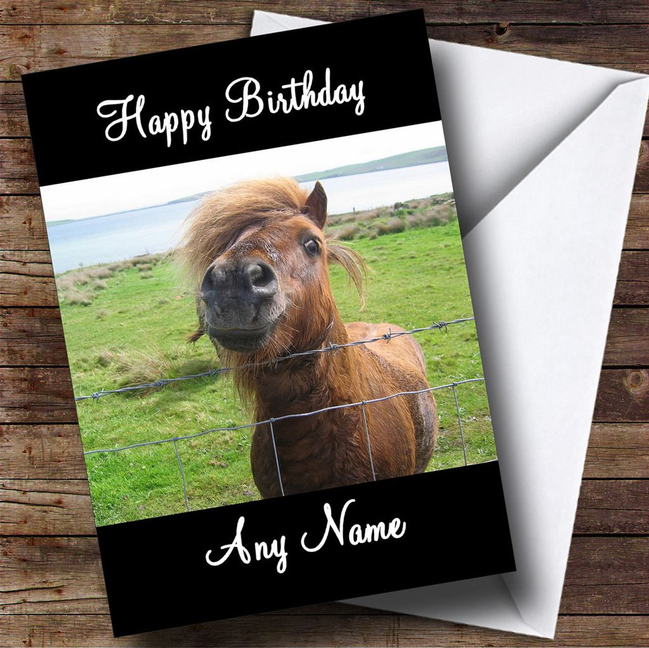 Shetland Pony Personalised Birthday Card The Card Zoo