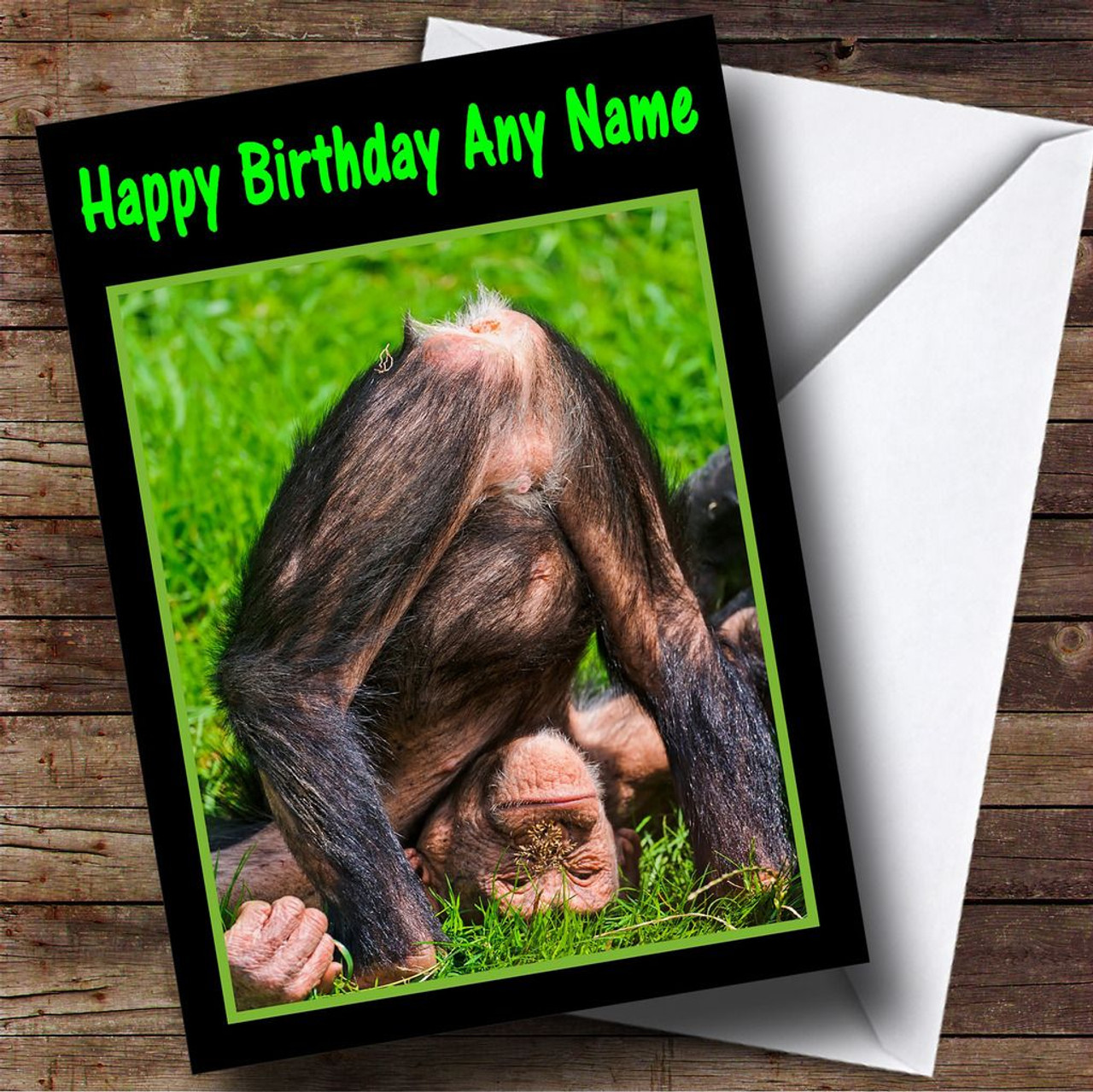 Funny Monkey Bum Personalised Birthday Card