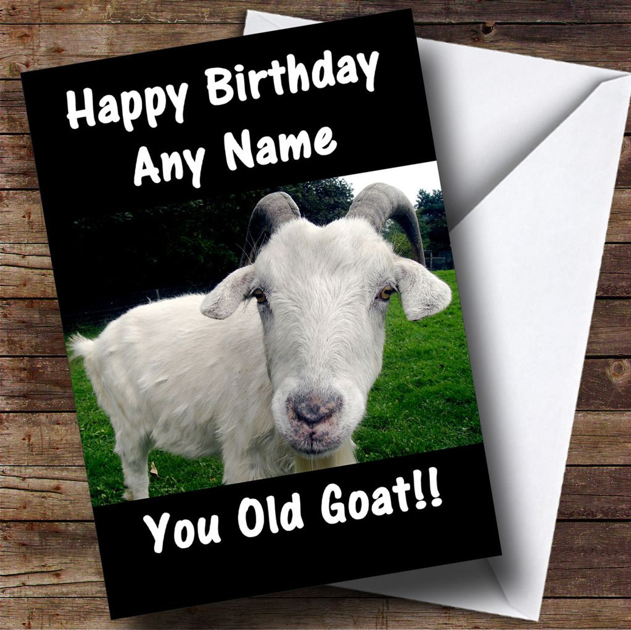 Old Goat Funny Personalised Birthday Card The Card Zoo – Goat Birthday Card