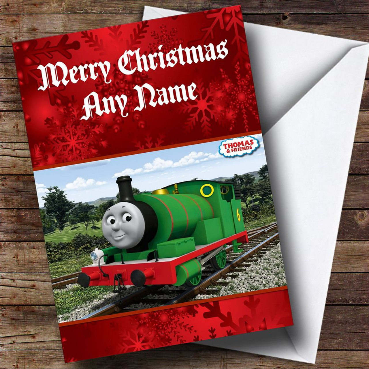 Thomas The Tank Engine Percy Personalised Christmas Card - The ...