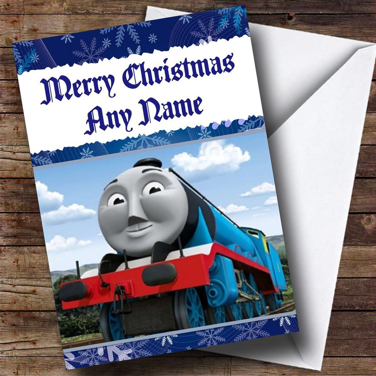 thomas the tank engine gordon personalised christmas card