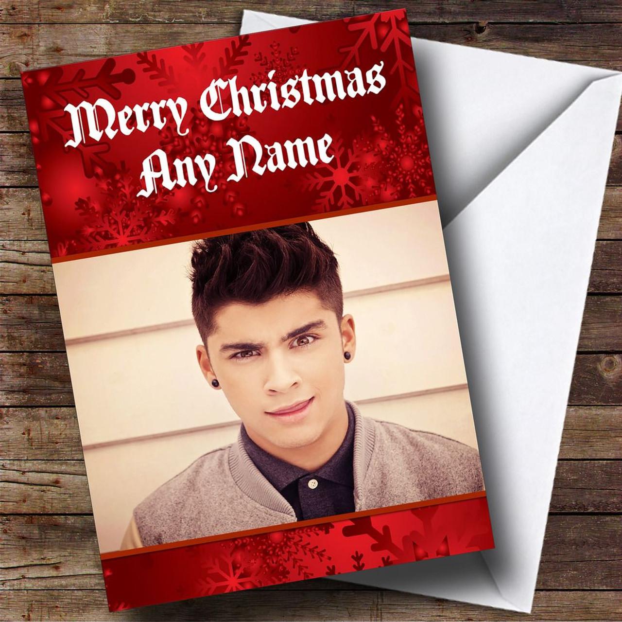 Zayn Malik One Direction Personalised Christmas Card The Card Zoo – Zayn Malik Birthday Card