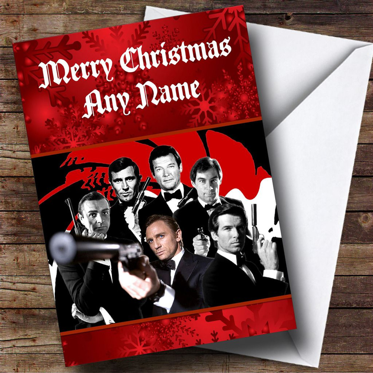 James Bond Personalised Christmas Card - The Card Zoo