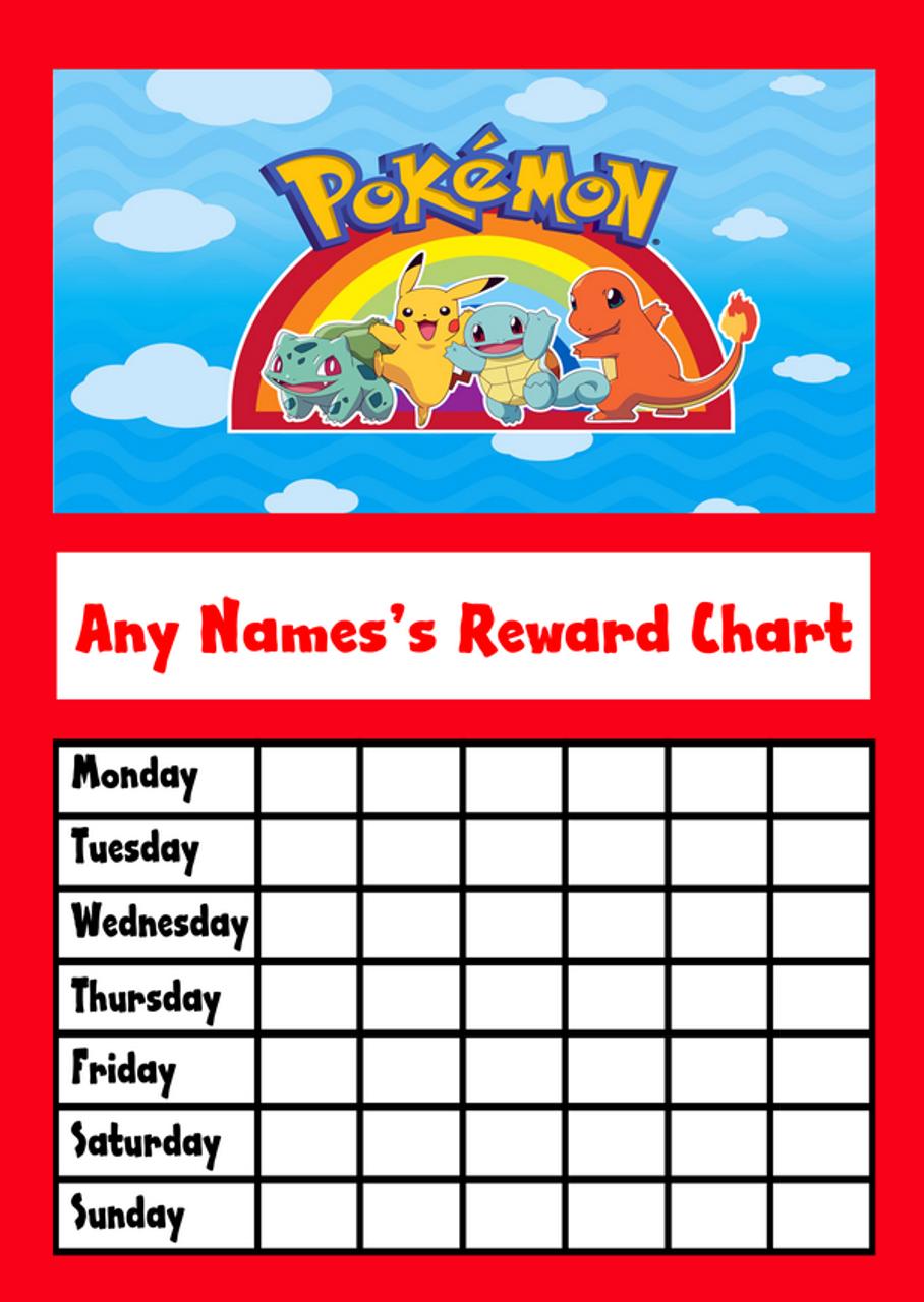 Pokemon Star Sticker Reward Chart - The Card Zoo