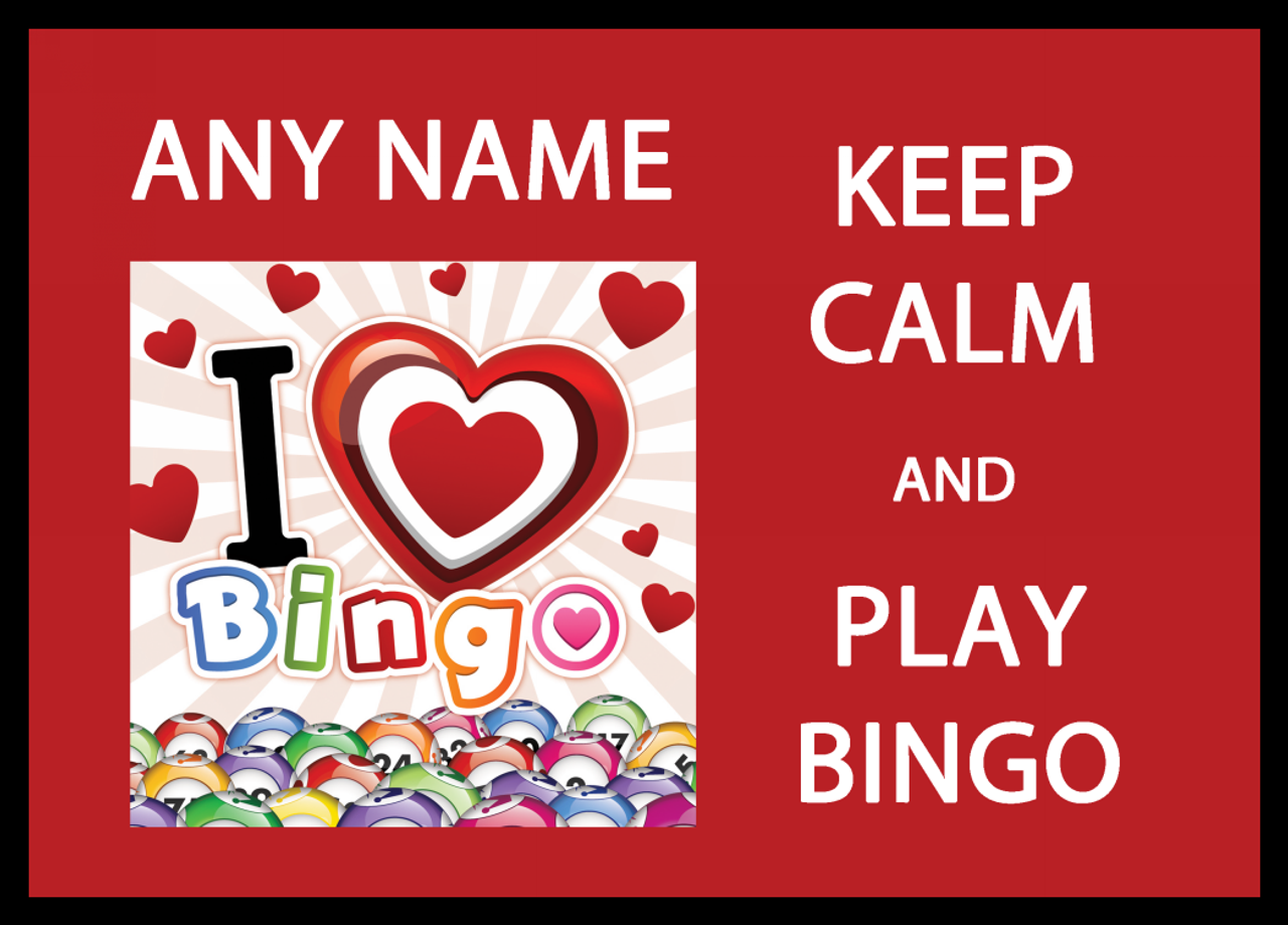 Keep Calm And Love Play Bingo Personalised Computer