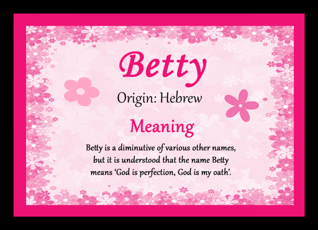 Betty Personalised Name Meaning Mousemat - The Card Zoo