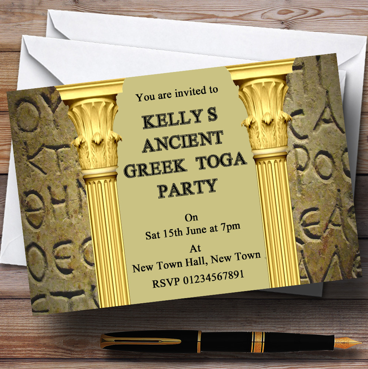 Toga Party Invite create free ecard – Toga Party Invitations