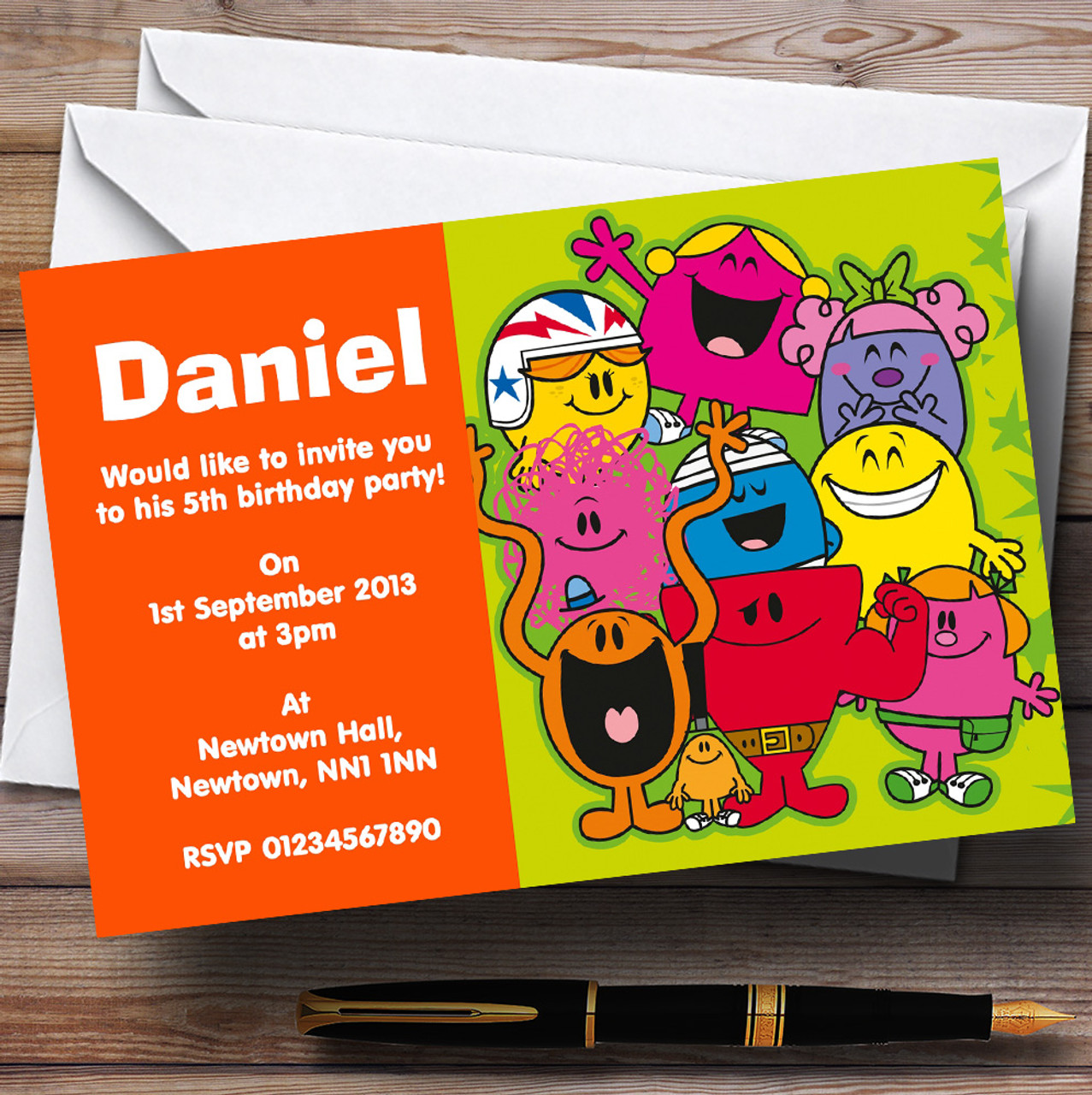 Mr Men Personalised Children's Birthday Party Invitations - The ...