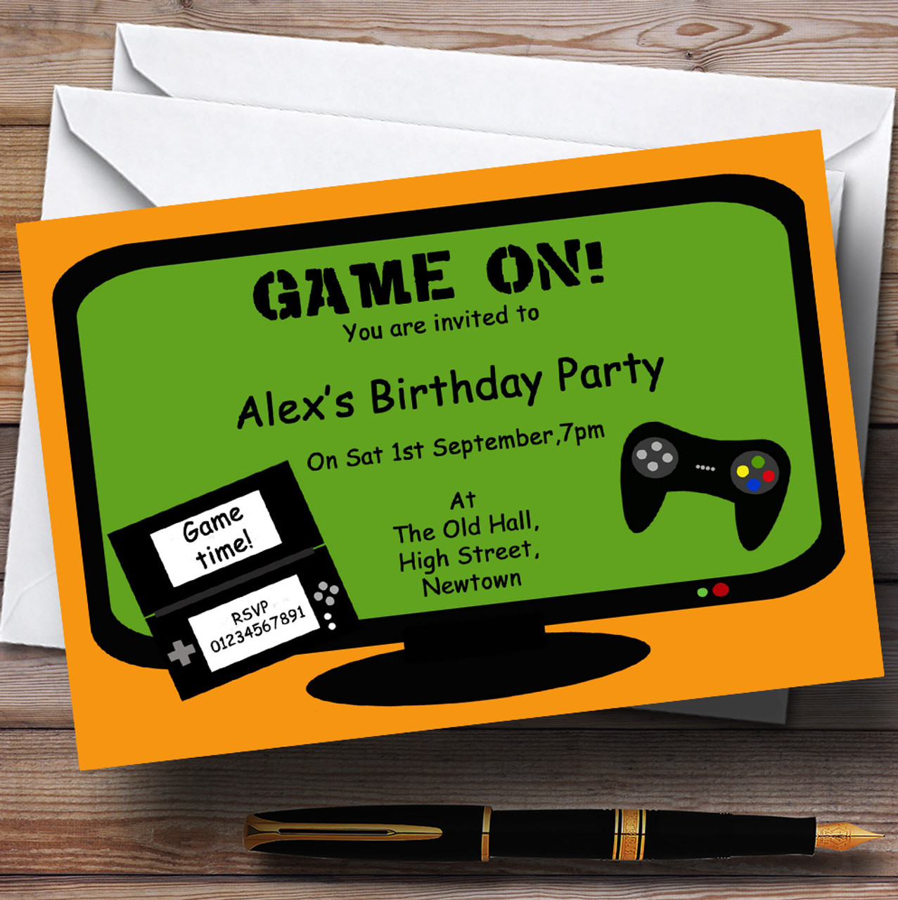 Computer Video Console Games Theme Personalised Birthday Party ...
